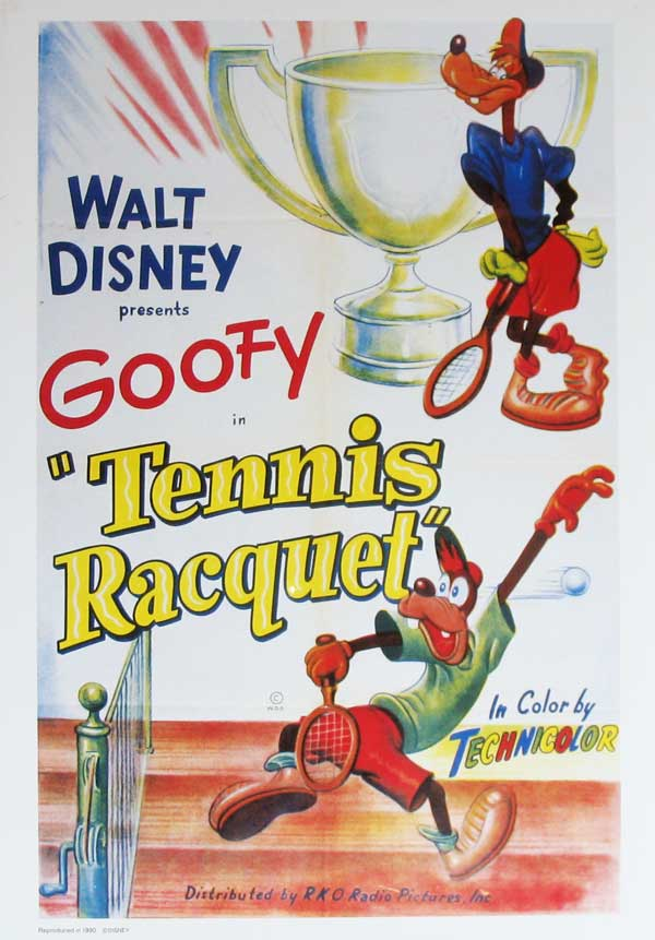 Goofy Cartoon Tennis Racquet